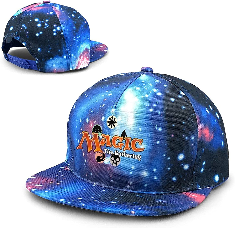 Carulest MTG-Magic Unisex Baseball Snapback Hats Polyester Adjustable Sport Hip Pop Cap Blue