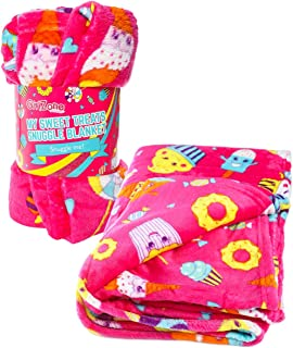 GirlZone: Fun Fleece Throw Blanket for Girls, Room Decor