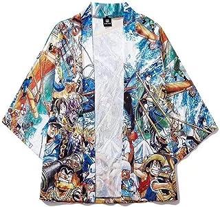 Japanese Long Sun Protection Clothing Retro Hanfu Thin Section Robe Kimono Cape Hyococ (Color : Color, Size : XXL)
