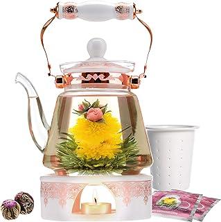 Teabloom Teapot & Blooming Tea Set Buckingham Palace Tea Set Rose Gold