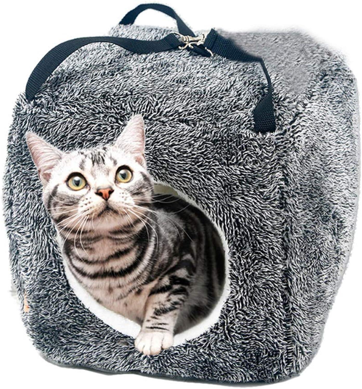 Cat Sleeping Bag cat House, Soft Hanging Square nest, Cat Tent nest (30  30cm)