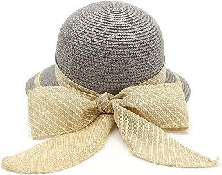 BEESCLOVER Outdoor Women Straw Hat Wide Brim with Bowknot forSummer Sun Hat