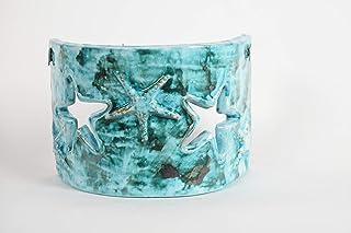 Applique stella rilievo, colore mare, piccola