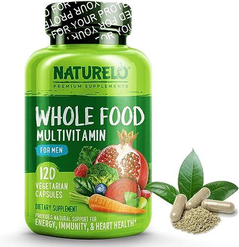 NATURELO Whole Food Multivitamin for Men - Natural Vitamins, Minerals, Antioxidants, Organic Extracts - Vegan/Vegetar...