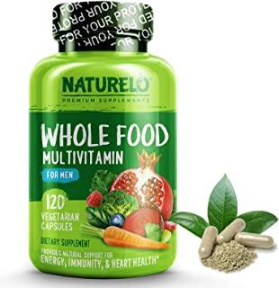 NATURELO Whole Food Multivitamin for Men – with Natural Vitamins, Minerals, Organic..