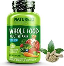 NATURELO Whole Food Multivitamin for Men - with Natural Vitamins, Minerals, Organic Extracts - Vegetarian - Best for Energy, Brain, Heart, Eye Health - 120 Vegan Capsules