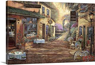 French Town Canvas Wall Art Print, 36
