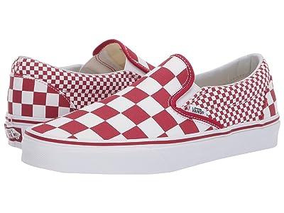 Vans Classic Slip-Ontm ((Mixed Checker) Chili Pepper/True White) Skate Shoes