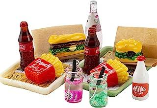 ANNI STAR Miniature Food Toy fits Barbie Doll Accessories, Hamburger Fries Cola Juice Fast Food Set, Pretend Play Food Toy...