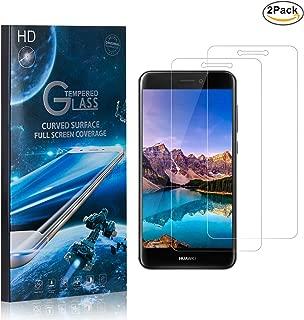 MoKiin Tempered Glass Screen Protector for Huawei P8 Lite 2017, Ultra Thin, 9H Bubble Free Screen Protector Film, HD Screen Protector, Easy Installation, 2 Pack