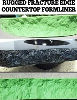 CONCRETE COUNTERTOP EDGE FORM LINERS - Rugged Fracture Edge, 2, 1/4