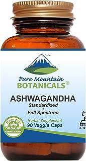 Sponsored Ad - Ashwagandha Capsules - 90 Kosher Vegan Caps with 475mg Organic Ashwagandha Root & Potent Ashwagandha Extract