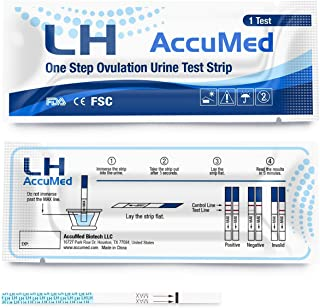 AccuMed Ovulation (LH) Test Strips Kit, Clear and Accurate Results, 99% Accurate, 50 Count