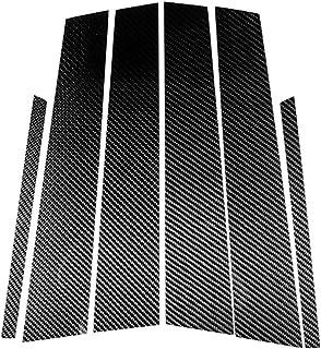 メルセデスベンツCクラスW2042007 2013の場合、カーボンファイバーカーインテリアBコラムデカールカバートリムステッカー