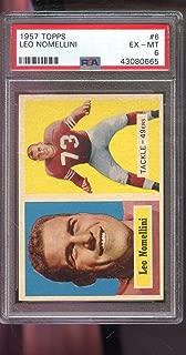 1957 Topps #6 Leo Nomellini San Francisco 49ers NFL PSA 6 Graded Football Card
