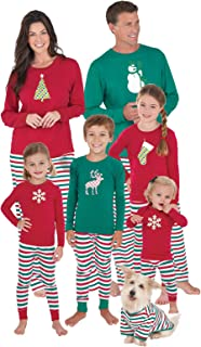PajamaGram Matching Family Christmas Pajamas, Red/Green