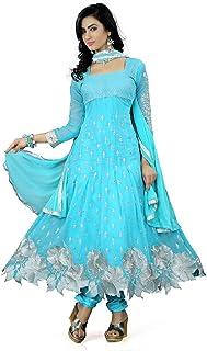 Mert India Women's Georgette Semi-stitched Salwar Suit