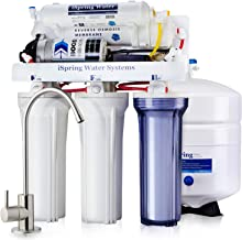 iSpring RCC7P Boosted Performance Under Sink 5-Stage Reverse Osmosis Drinking Filtration System with Pump and Ultimate Water Softener, White