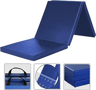 WolfWise 6'x2' Gymnastic Mats Folding Exercise Mat Tri-Fold Tumbling Traning Fitness Panel Gym Pad, No-Slip