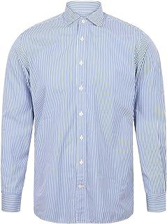 Hackett of London Mens Bengal Stripe Shirt in Navy