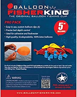 Balloon Fisher King 400 Pro Pack with 5 balloon clips and 10 5 inch balloons