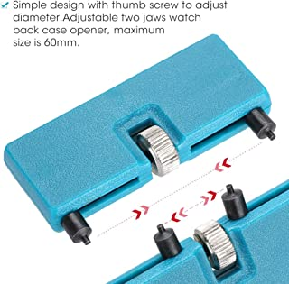 Outil de réparation de montre arrière, Kit de réparation de montre-bracelet Accessoire Presse Fermeture et ouvre-porte Dém...