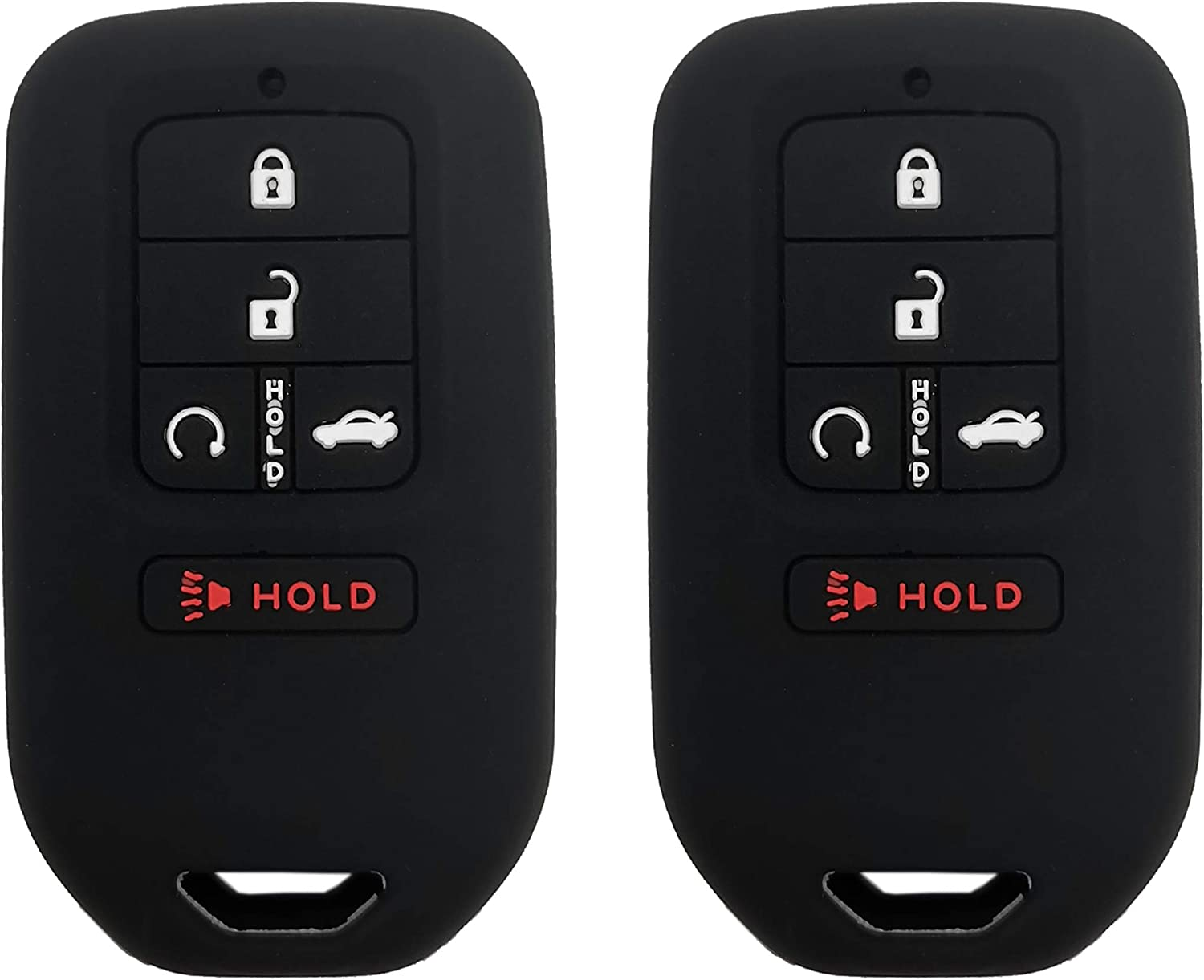 Silicone Key Fob Cover Case Fit for 2019 2018 2017 2016 2015 Honda ...