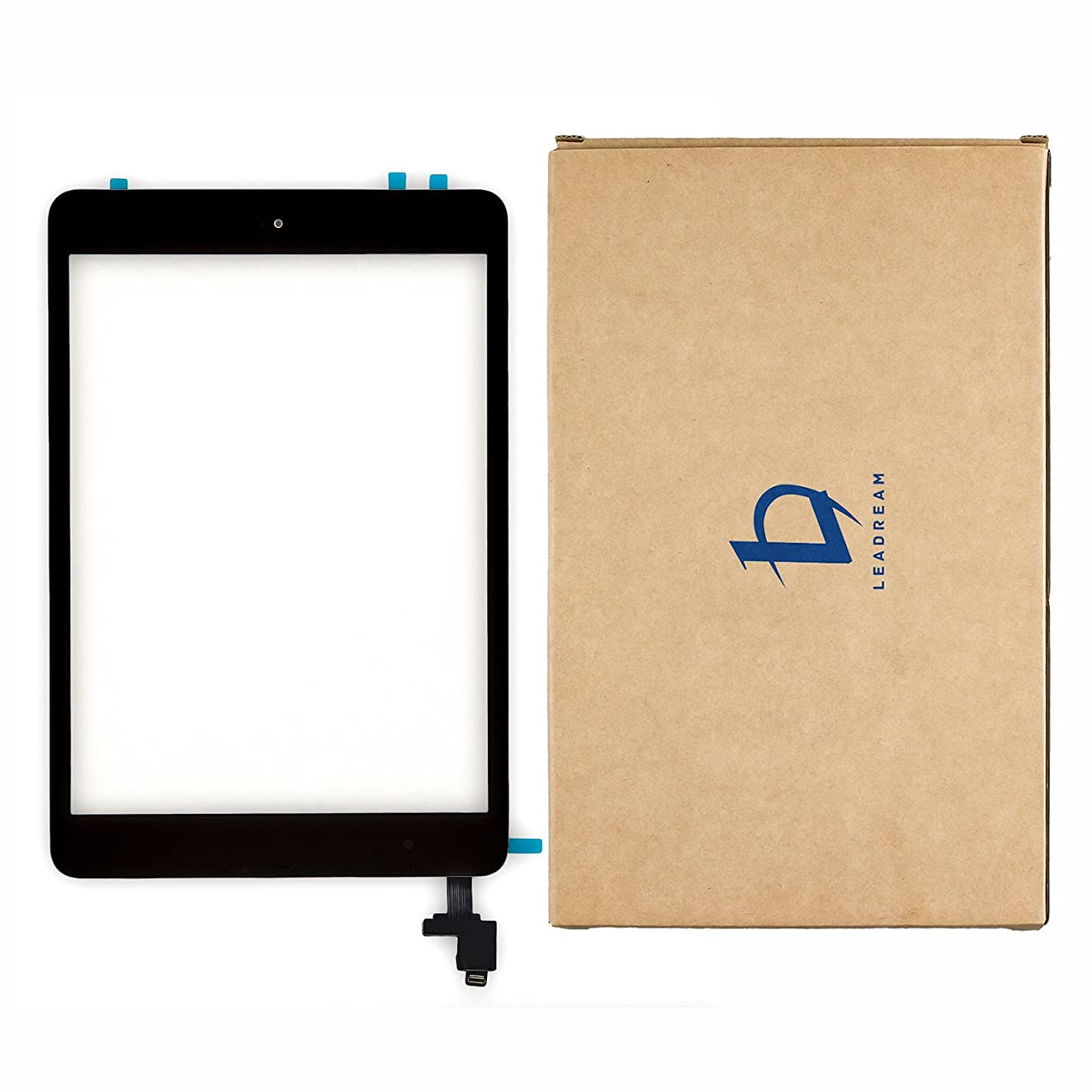 Glass Screen Digitizer Complete Full Assembly for iPad Mini & Mini 2 with IC Chip, Home Button, OEM Adhesive-Black