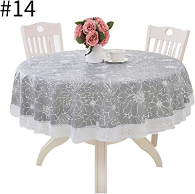SARO LIFESTYLE Rochester Collection Classic Hemstitch Border Design Tablecloth 70 x 104 Grey 70 x 104 6302.GY70104B