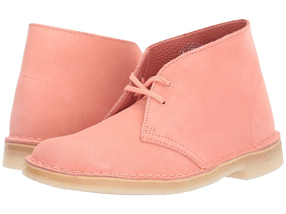Clarks Desert Boot (Coral Suede) Women