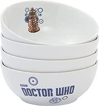 Vandor Doctor Who 6.5-Inch Ceramic Bowls, 4-Piece Set (16036)