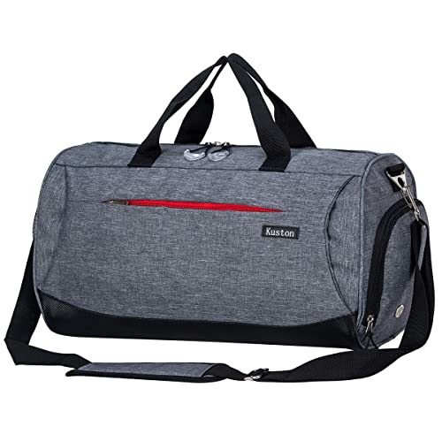 Kuston Sports Gym Bag with Shoes Compartment Travel Duffel Bag for Men and  Women 71e5f2ba114dd