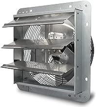 JPOWER 12 Inch Shutter Exhaust Fan Wall-Mounted Stainless Ventilation Fan