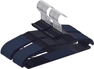 AUV ハンガー 20本組 洗濯ハンガー 小物ハンガー 360度回転式 すべらない 変形にくい 収納便利 スーツハンガー スリム 多機能 乾湿両用 ネイビー