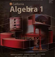 HMH Algebra 1 California: Teacher Edition with Solutions 2015