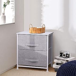 Joolihome Armoire de rangement à tiroirs en tissu et cadre en métal, pour salon, chambre à coucher, chambre d'enfant, dort...