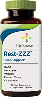 LifeSeasons - Rest-ZZZ - Natural Sleep Supplement - Aids Restlessness - Maintain a Calm and Relaxed State Without Feeling ...