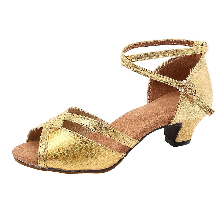 Padaleks Women's Low Heels Ballroom Wedding Dance Shoes Latin Salsa Practice Performance Dancing Shoe 1.34 Inch Heel