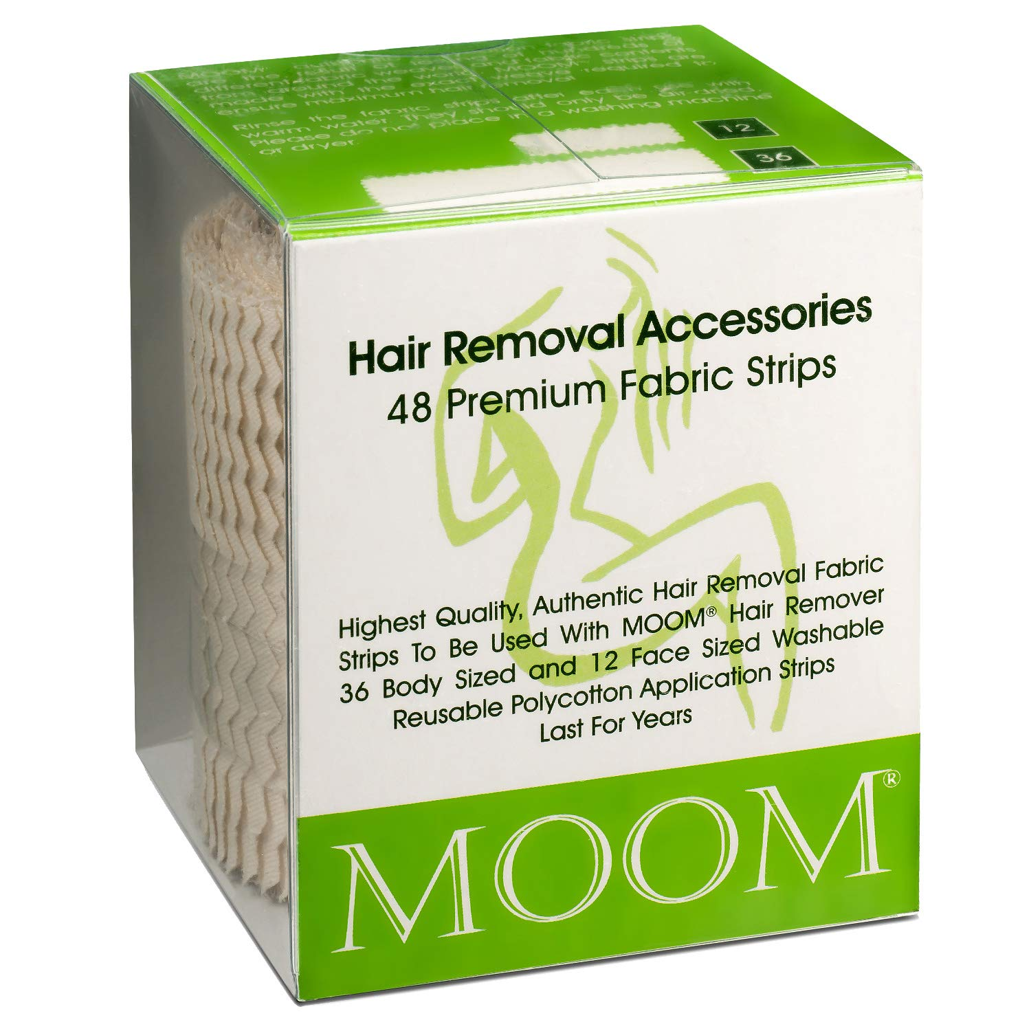 MOOM Polycotton Waxing Max 60% OFF Industry No. 1 Strips for Spe Hair Women Removal