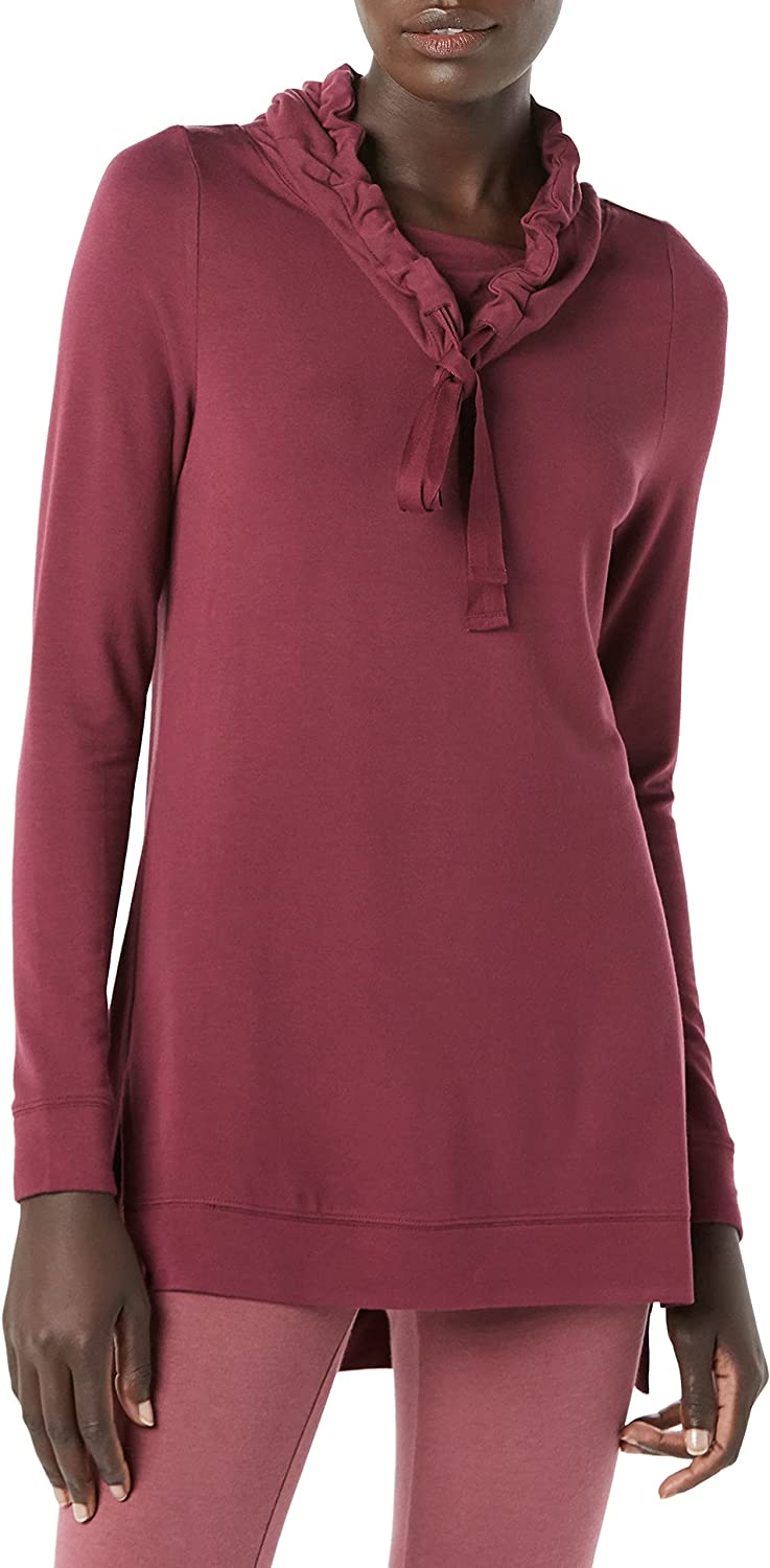 Amazon Max 49% OFF Brand - Daily Ritual Very popular! Supersoft Terry Women's Funnel-Neck