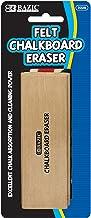 BAZIC Felt Chalkboard Eraser, Wood Blackboard Eraser Cleaner Dustless, Teacher Kids..