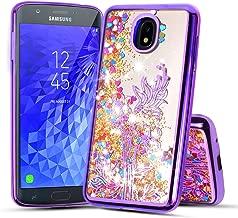 for 5.5 Inch for Samsung Galaxy J7 2018 (J737), Galaxy J7 Refine, J7 V 2nd Gen, J7 Star Liquid Glitter Quicksand Flowing Sparkle Clear Cute Bling Case (Purple)