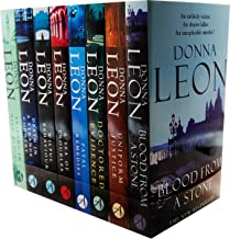 Donna Leon A Guido Brunetti Mystery 8 Books Collection Pack Set RRP: £63.92 (Friends in High Places, Death in a Strange Country, Wilful Behaviour, A Sea of Troubles, Fatal Remedies, Doctored Evidence, Uniform Justice, Blood from a Stone)