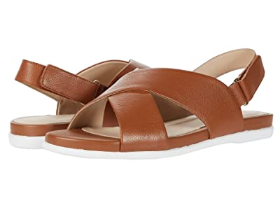 Cole Haan Grand Ambition Flat Sandal (CH British Tan Tumble Leather) Women