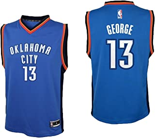Outerstuff Paul George Oklahoma City Thunder #13 Blue Youth Road Replica Jersey