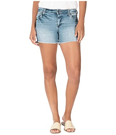 KUT from the Kloth Gidget Fray Shorts in Enrapture/Light Base Wash (Enrapture/Light Base Wash) Women