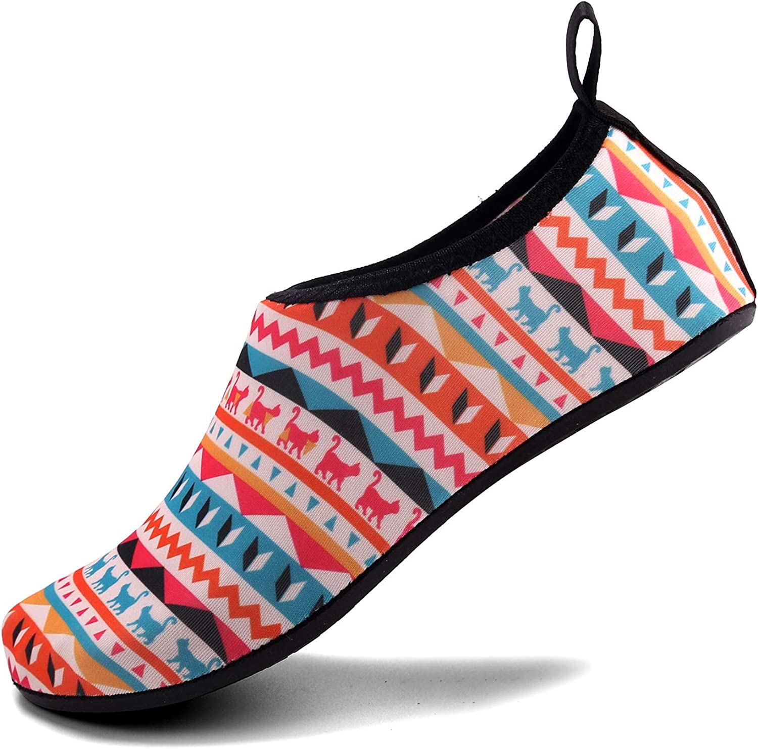 Aslipper Womens and Mens Summer Outdoor Water shoes Aqua Socks for Beach Swim Surf Yoga Exercise (XS(W 3.5-4), Purple)