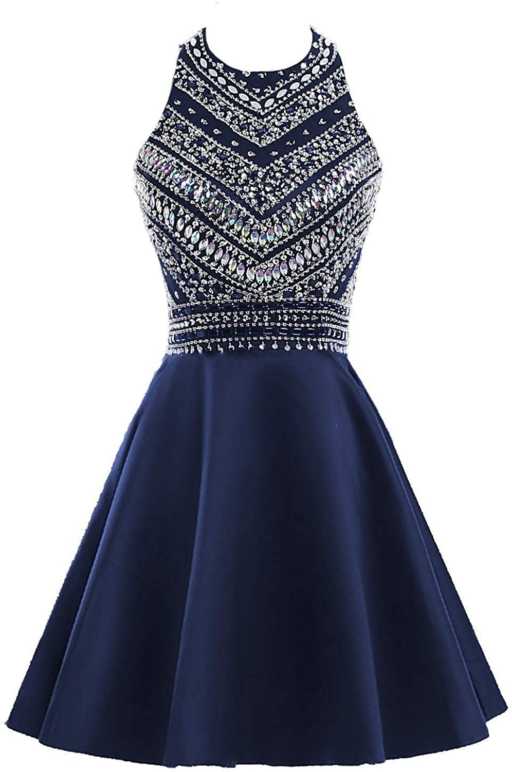 YSMei Women's 2 Piece Beaded Short Dress Pocket Prom Challenge the lowest Year-end gift price Homecoming