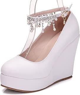Melesh Simple Platform Wedge Pump Shoes for Womens