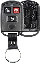 KeylessOption Keyless Entry Remote Key Fob Case Shell Button Pad Cover Leather Strap For Hyundai Kia Santa Fe Elantra